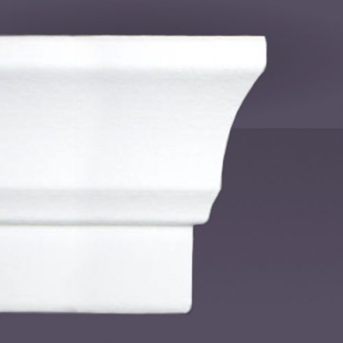 Style 1 | Flat Back | Dead End Square Right | Foam Crown Molding