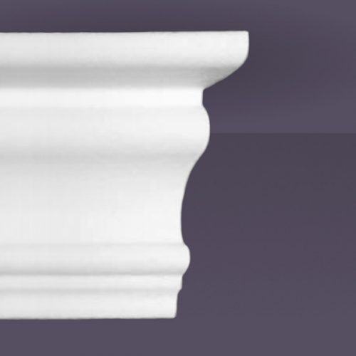 Style 4 | Flat Back | Dead End Square Right | Foam Crown Molding