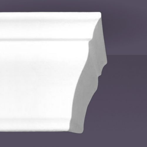 Style 6 | Flat Back | Dead End Tapered Right | Foam Crown Molding