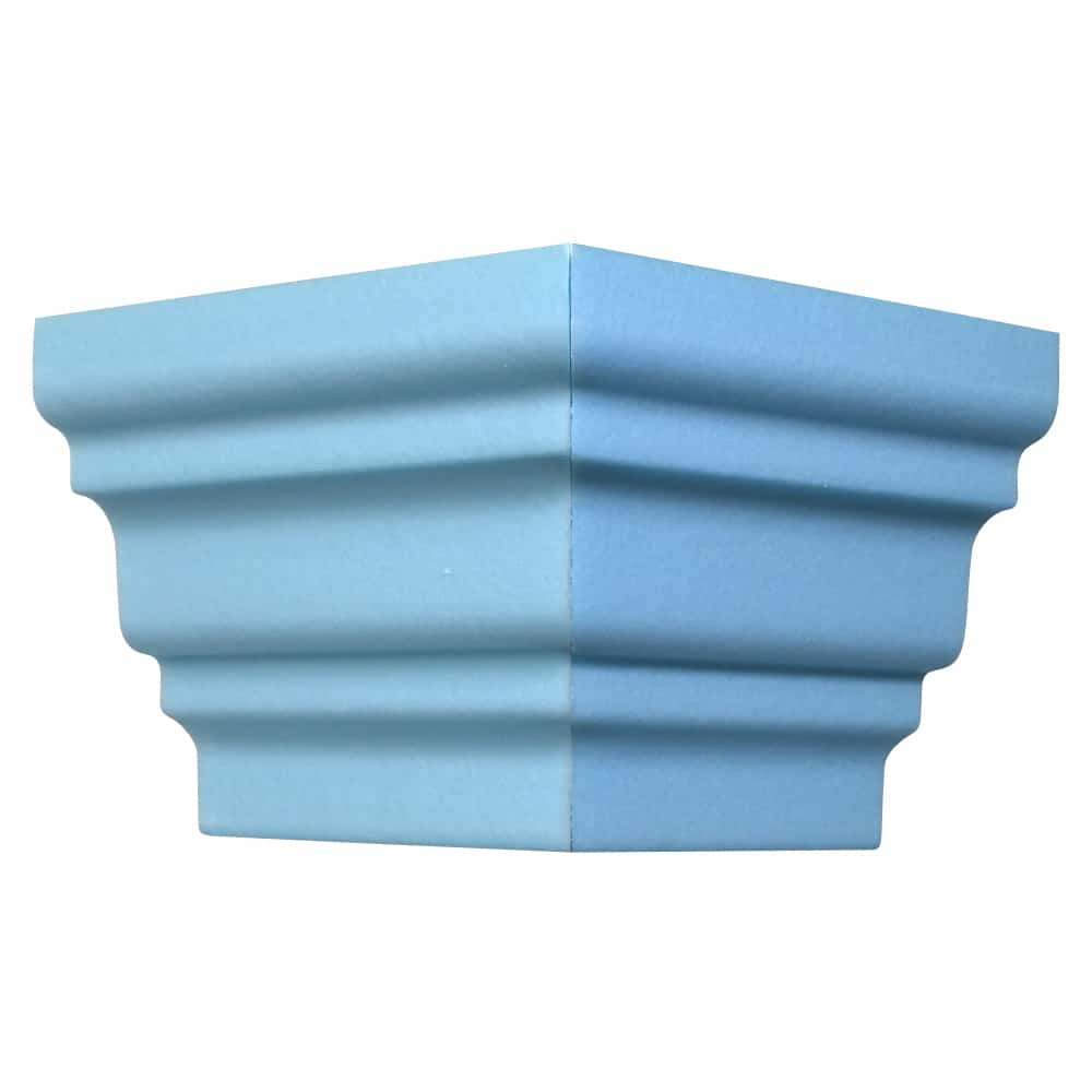 Style Three Flat Back | Outside Corner | Foam Crown Molding