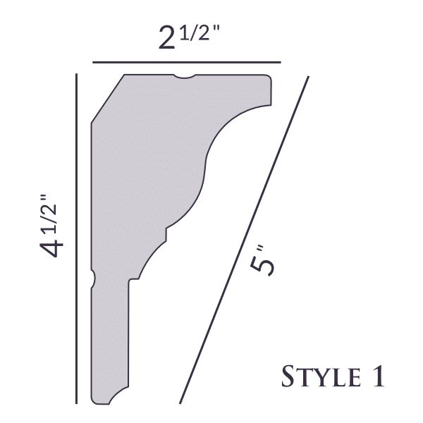 New! Style 1 | 4 1/2"