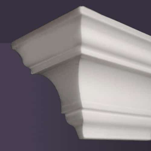Style NM10 | Dead End Squared, Left | Foam Molding | Foam Crown Molding