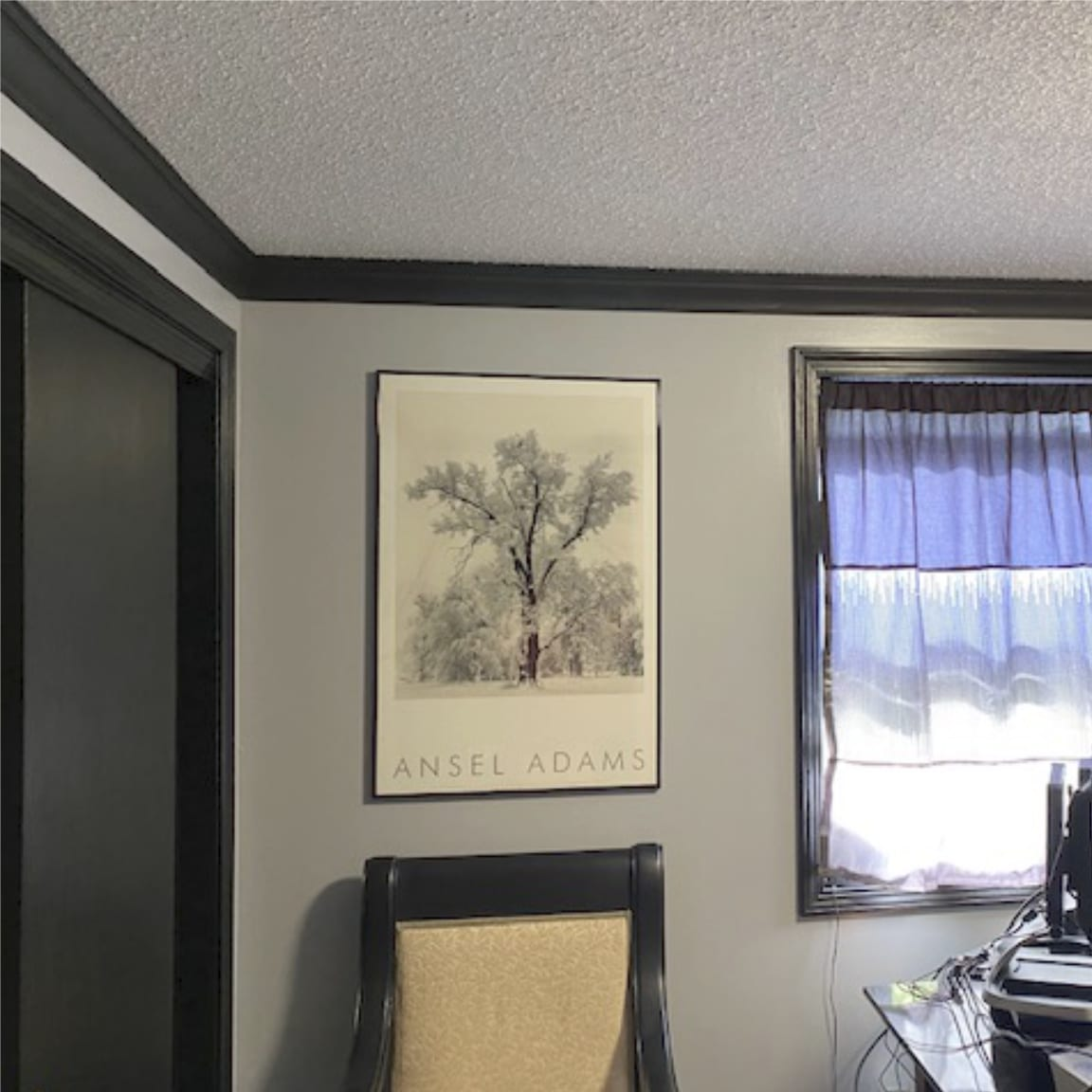 Gray Room with Black Foam Crown Molding | Crown Molding Solutions